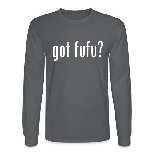 gotfufu-white - Men's Long Sleeve T-Shirt