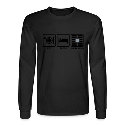 Eat Sleep Urb big fork-LG - Men's Long Sleeve T-Shirt
