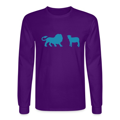 Lion and the Lamb - Men's Long Sleeve T-Shirt