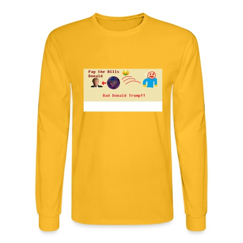 donald trump gets hit with a ball - Men's Long Sleeve T-Shirt
