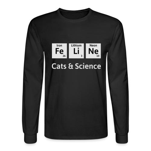 Cats & Science - Men's Long Sleeve T-Shirt
