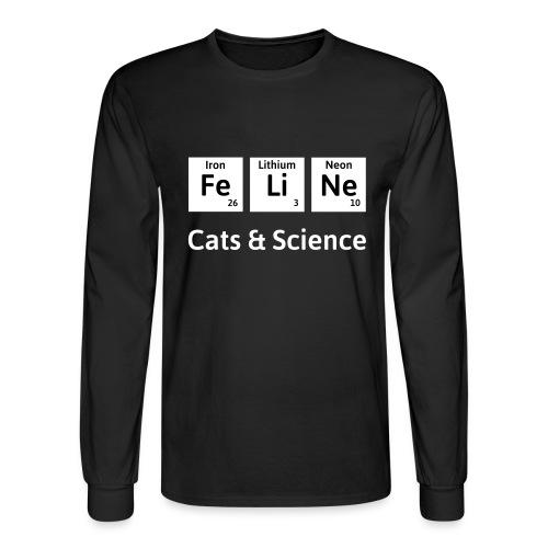 Cats & Science - Men's Long Sleeve T-Shirt