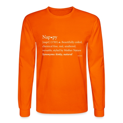 Nappy Dictionary_Global Couture Women's T-Shirts - Men's Long Sleeve T-Shirt