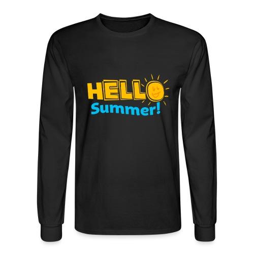 Kreative In Kinder Hello Summer! - Men's Long Sleeve T-Shirt