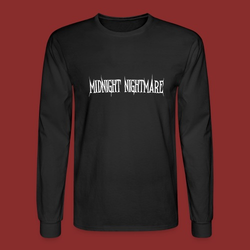 Midnight Nightmare Logo-w - Men's Long Sleeve T-Shirt