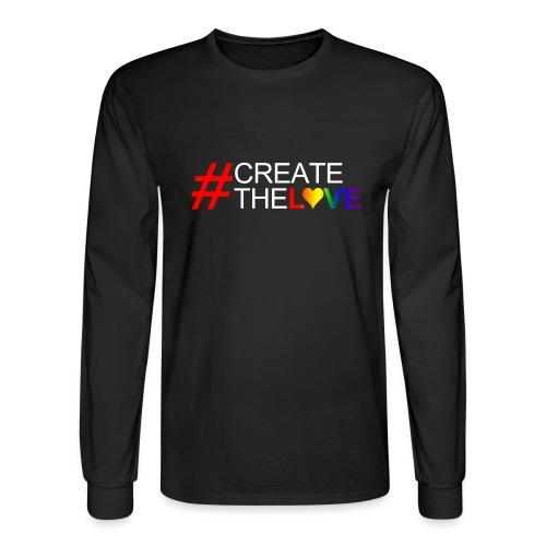 #CreateTheLove - Men's Long Sleeve T-Shirt