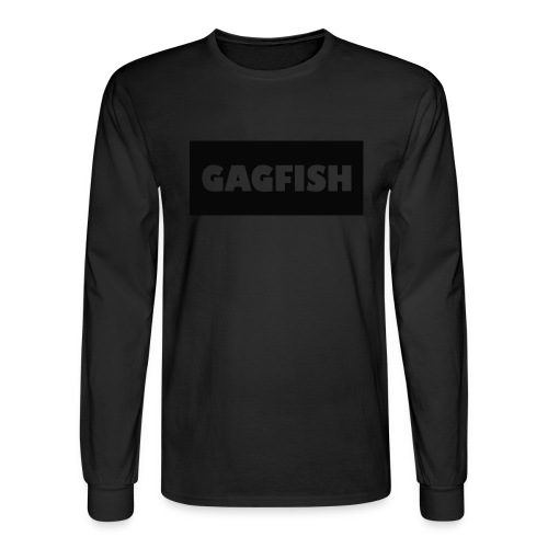 GAGFISH BLACK LOGO - Men's Long Sleeve T-Shirt