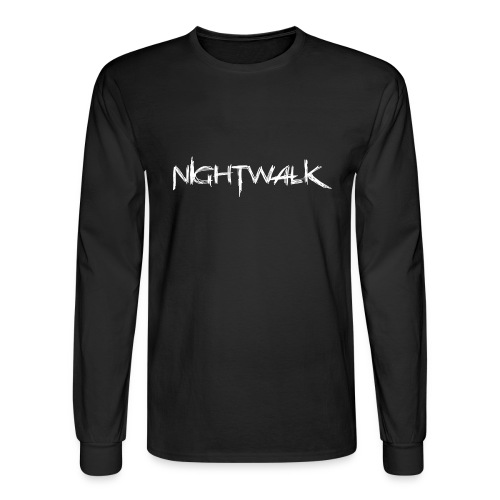 Nightwalk Logo White - Men's Long Sleeve T-Shirt