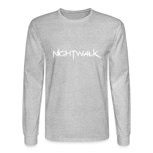 Nightwalk Logo White - Men's Long Sleeve T-Shirt
