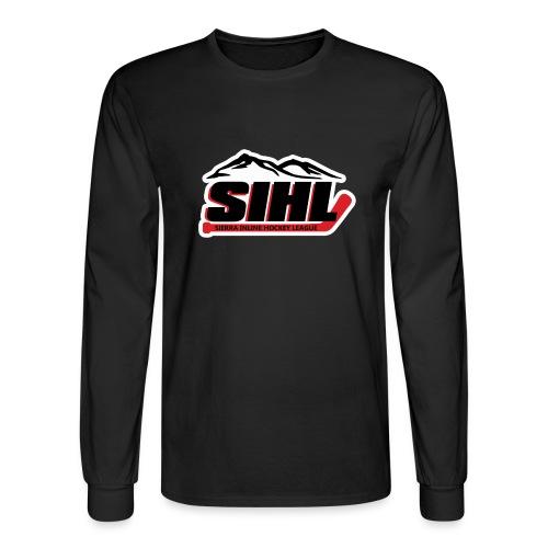 SIHL Logo White Outlined - Men's Long Sleeve T-Shirt