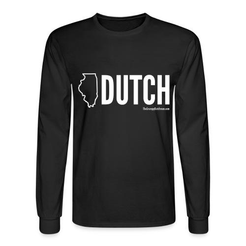 Illinois Dutch (White Text) - Men's Long Sleeve T-Shirt