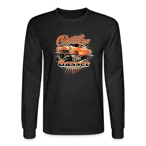 Head's Up '55 Chevy Gasser T-Shirt - Men's Long Sleeve T-Shirt