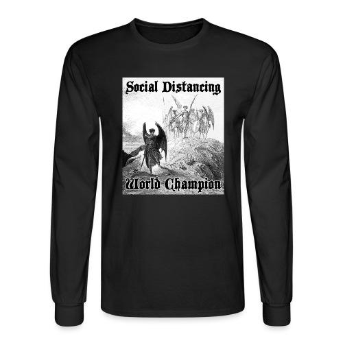 Social Distancing World Champion - Men's Long Sleeve T-Shirt