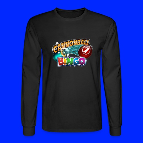 Vintage Cannonball Bingo Logo - Men's Long Sleeve T-Shirt
