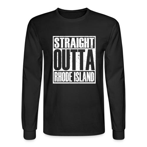 Straight Outta Rhode Island - Men's Long Sleeve T-Shirt