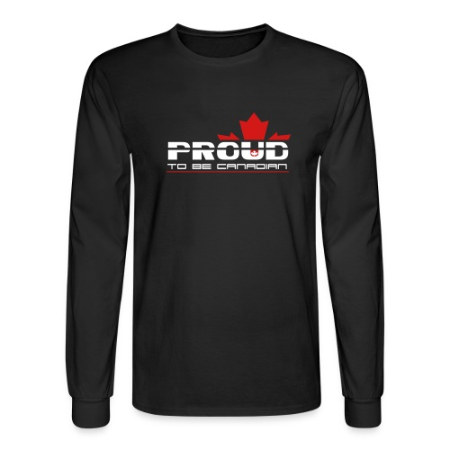 Proud to be Canadian - Men's Long Sleeve T-Shirt
