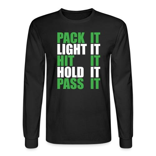 Pack It Light It Hit It - dark shirts - Men's Long Sleeve T-Shirt