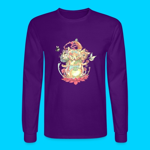 Contraption Brahma Neko - Men's Long Sleeve T-Shirt