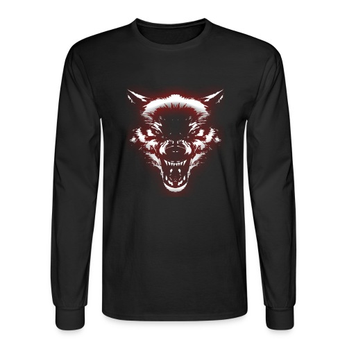 Angry Wolf - Men's Long Sleeve T-Shirt