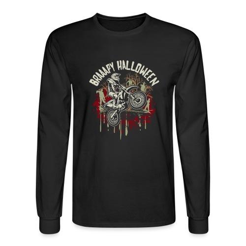 Dirt Bike Happy Halloween - Men's Long Sleeve T-Shirt
