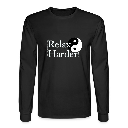 relaxharderdesign_editedneg - Men's Long Sleeve T-Shirt