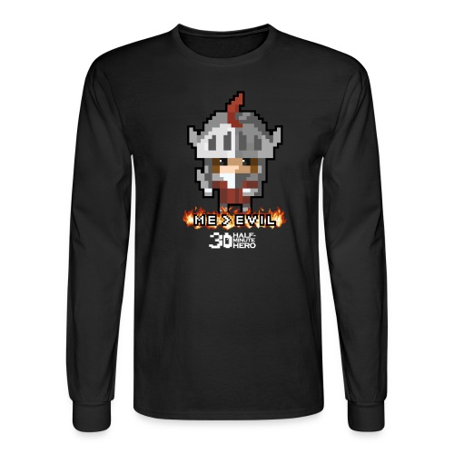 Knight ME v EVIL (White logo) - Men's Long Sleeve T-Shirt