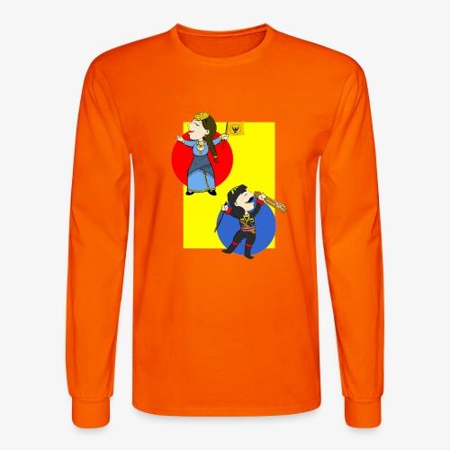 Cartoon - Pontios/lyra & Pontia/flag - Men's Long Sleeve T-Shirt