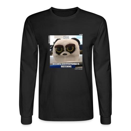 Crypto Panda Is Watching (Crypto Series) - Men's Long Sleeve T-Shirt