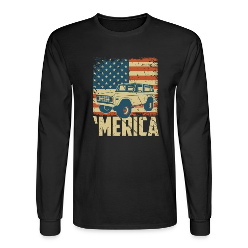 Bronco Truck 'merica Classic Off-Road T-shirt - Men's Long Sleeve T-Shirt