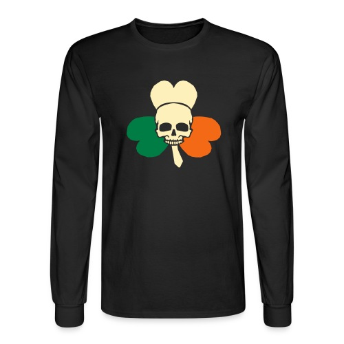 irish_skull_shamrock - Men's Long Sleeve T-Shirt
