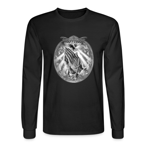 Praying Hands by RollinLow - Men's Long Sleeve T-Shirt