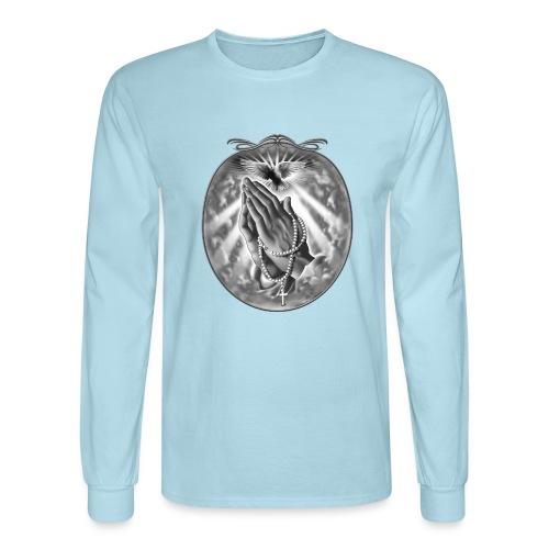 Praying Hands by RollinLow - Men's Long Sleeve T-Shirt