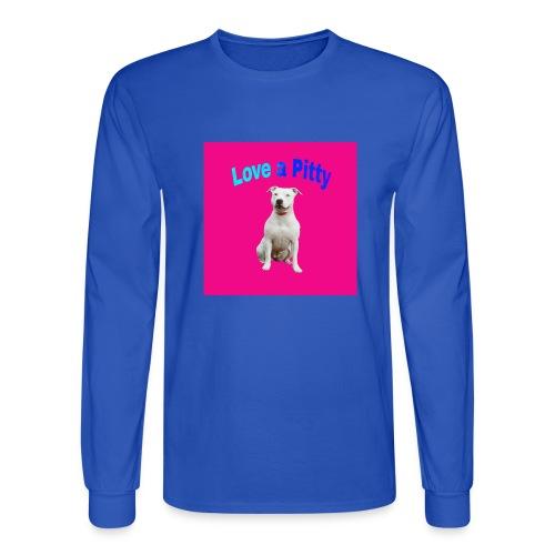 Pink Pit Bull - Men's Long Sleeve T-Shirt