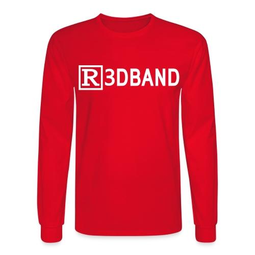 r3dbandtextrd - Men's Long Sleeve T-Shirt