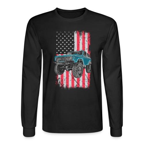 Bronco Drop the Hammer Truck Men's T-Shirt - Men's Long Sleeve T-Shirt