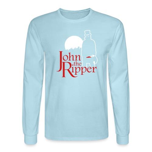 Evil John The Ripper Dark background - Men's Long Sleeve T-Shirt
