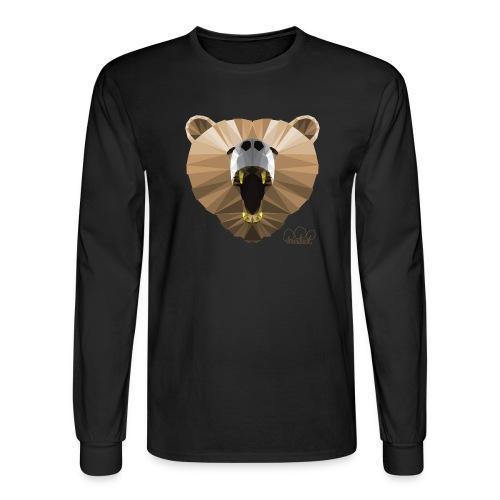 Hungry Bear Women's V-Neck T-Shirt - Men's Long Sleeve T-Shirt