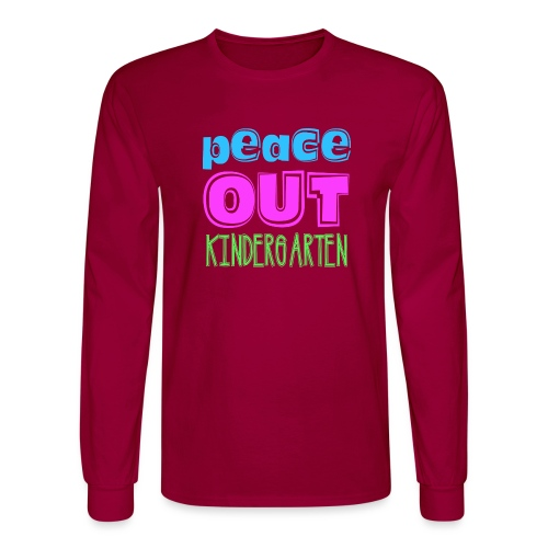 Kreative In Kinder Peace Out - Men's Long Sleeve T-Shirt