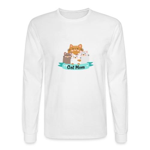 Cat MOM, Cat Mother, Cat Mum, Mother's Day - Men's Long Sleeve T-Shirt