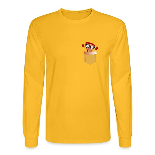 Pizza Lover pocket - Men's Long Sleeve T-Shirt