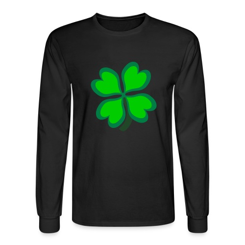 4 leaf clover - Men's Long Sleeve T-Shirt