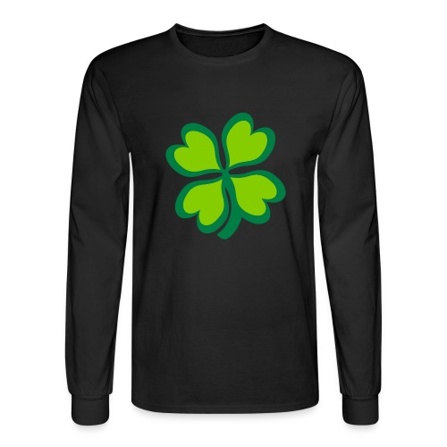 4 leaf clover - Men's Long Sleeve T-Shirt