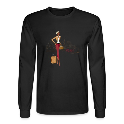 BrowOutfitPNG png - Men's Long Sleeve T-Shirt
