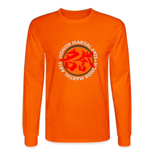 Honor Martial Arts Kanji Design Light Shirts - Men's Long Sleeve T-Shirt