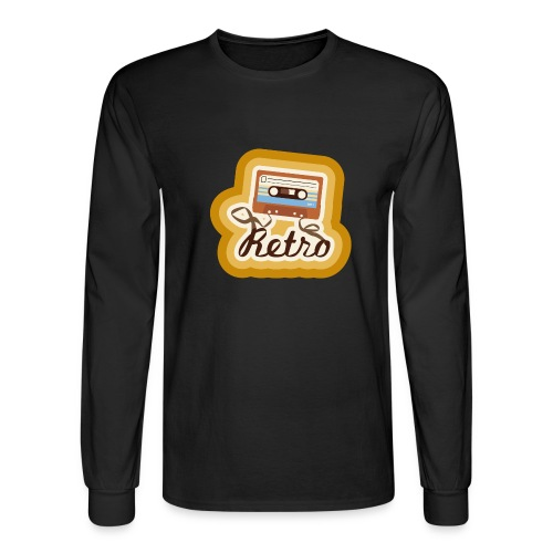 Retro-Cassette - Men's Long Sleeve T-Shirt