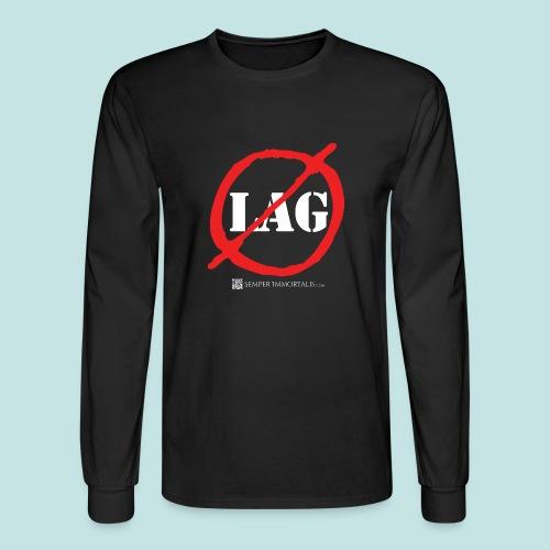 No Lag (white) - Men's Long Sleeve T-Shirt