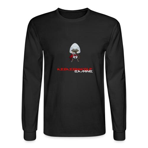 heather gray assassinwolf Tee - Men's Long Sleeve T-Shirt