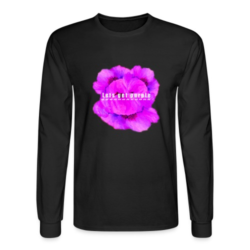lets_get_purple_2 - Men's Long Sleeve T-Shirt