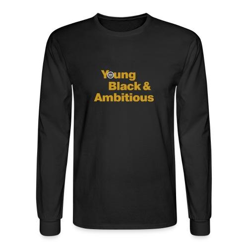 YBA Black and Gold Shirt2 - Men's Long Sleeve T-Shirt
