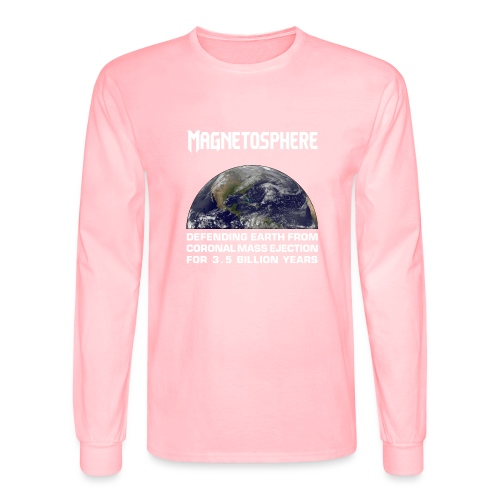 Magnetosphere Defending from Coronal Mass Ejection - Men's Long Sleeve T-Shirt
